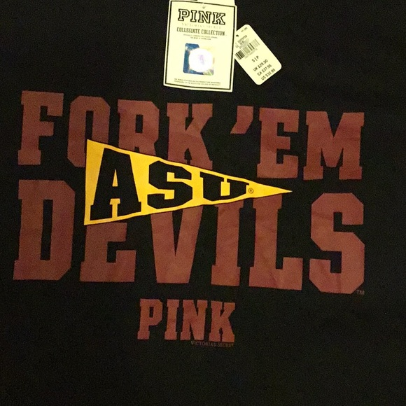 PINK Victoria's Secret Tops - ASU Pink Tee shirt